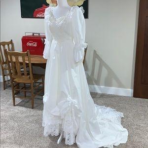 Vintage boho wedding gown 1960's
